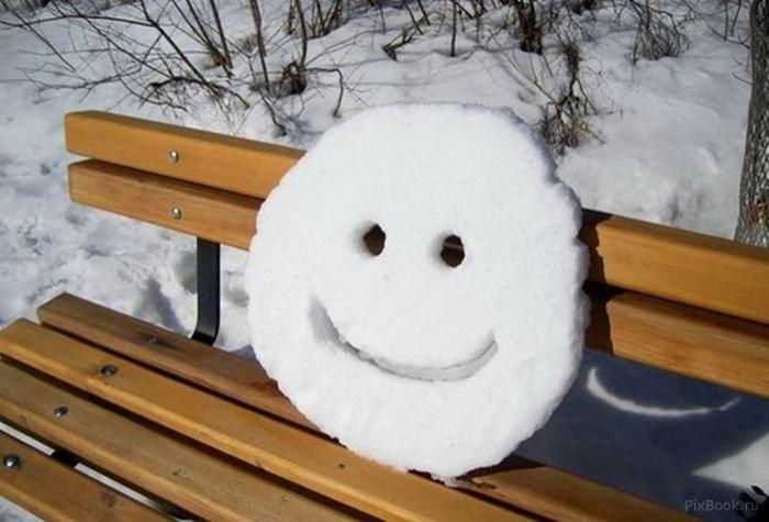 смайлики из снега картинки лучшему