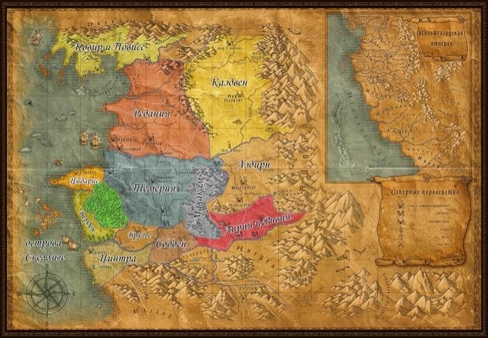 Политическая карта королевств Севера