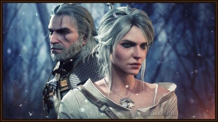 Геральт со своей дочерью Цириллой