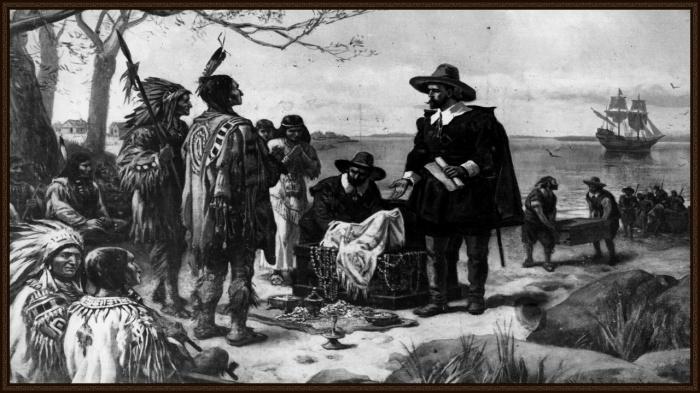 Переселенцы и местные жители Америки