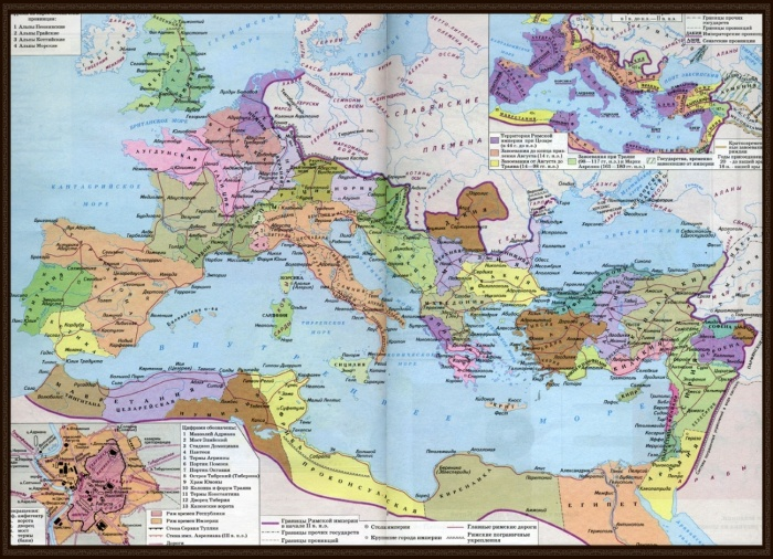 Карта Римской Империи