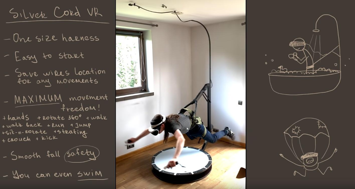 SilverCord-VR Treadmill позволит плавать в виртуальной реальности / Блог  Digent
