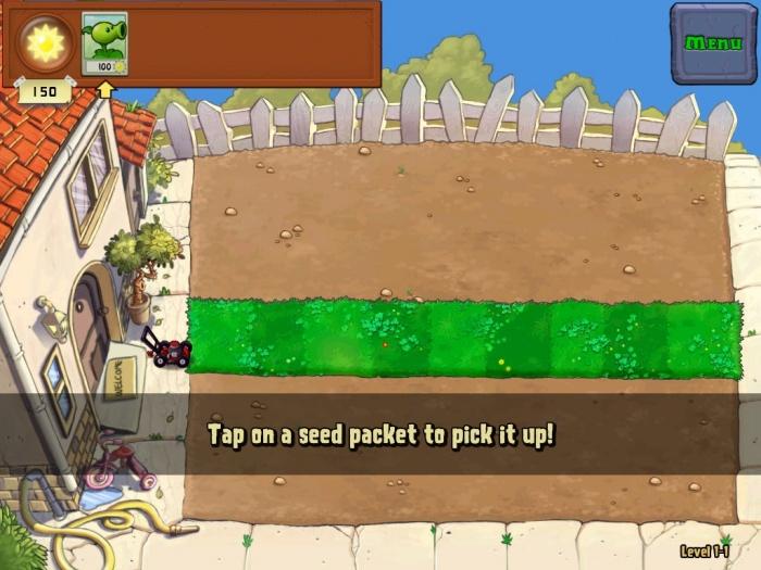 Туториал Plant vs. Zombies гармонично интегрирован в игровой процесс