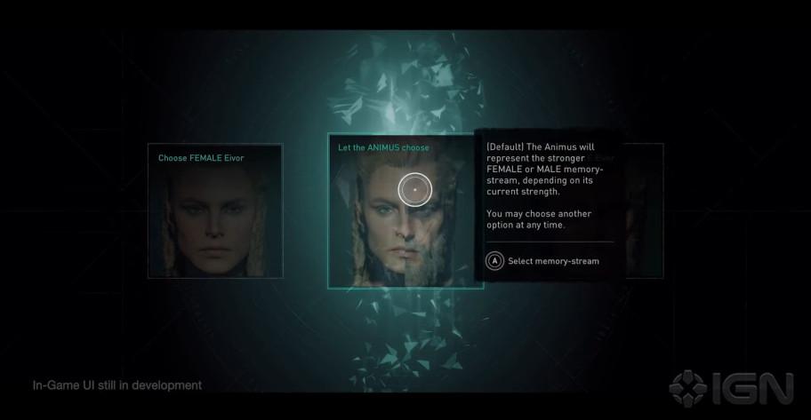 В каноничном режиме Assassin's Creed Valhalla Эйвор будет периодически менять пол