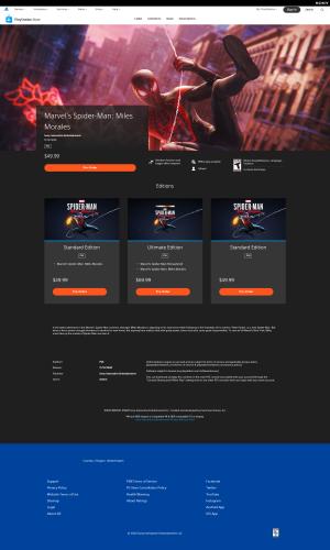 Скриншоты из новой веб-версии PlayStation Store