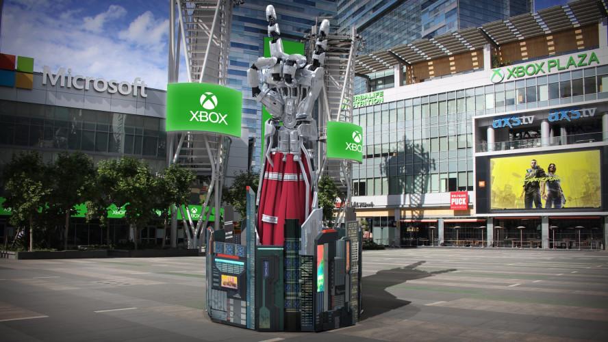 Обелиски Xbox Series X по всему миру показывают эффектное шоу