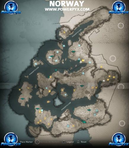 В Сети появилась полная карта мира Assassin's Creed Valhalla