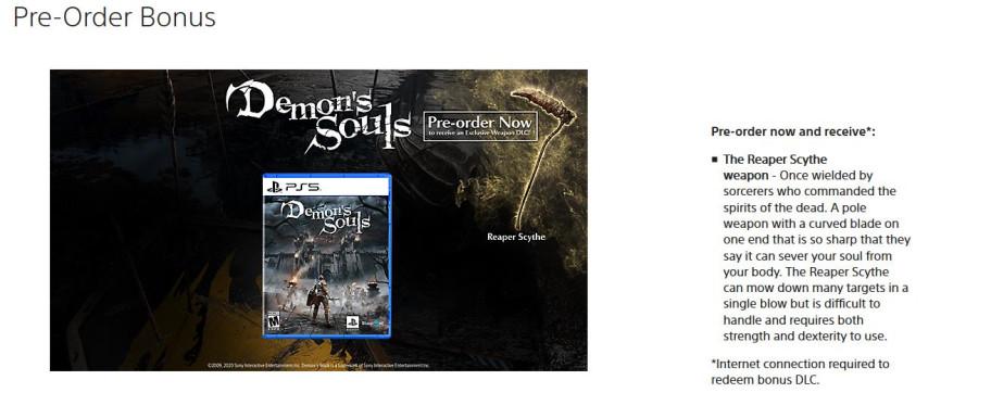 Кажется, за предзаказ ремейка Demon's Souls дадут оружие, которого не было в оригинале
