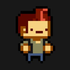 Спрайт персонажа во время игры.