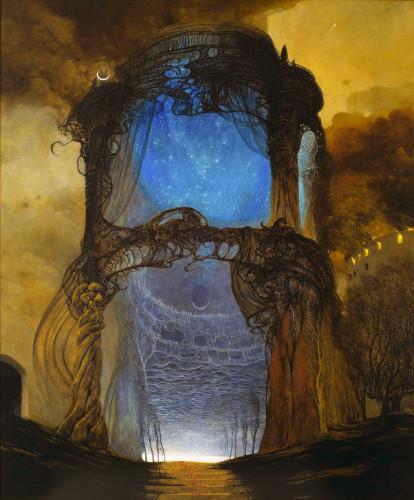 """Где-то увидела комментарий, что картина """"Голубая беседка"""" [3 картина] похожа на """"исполнитель желаний"""" в Сталкере. Хм."""