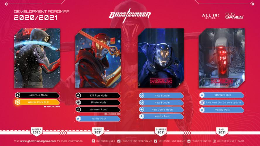 Несколько DLC, фоторежим и некстген-апгрейд — план поддержки Ghostrunner