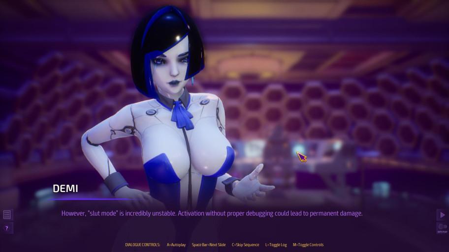 Девушка-робот Деми поначалу кажется самой нормальной, ноона тоже озабоченная.