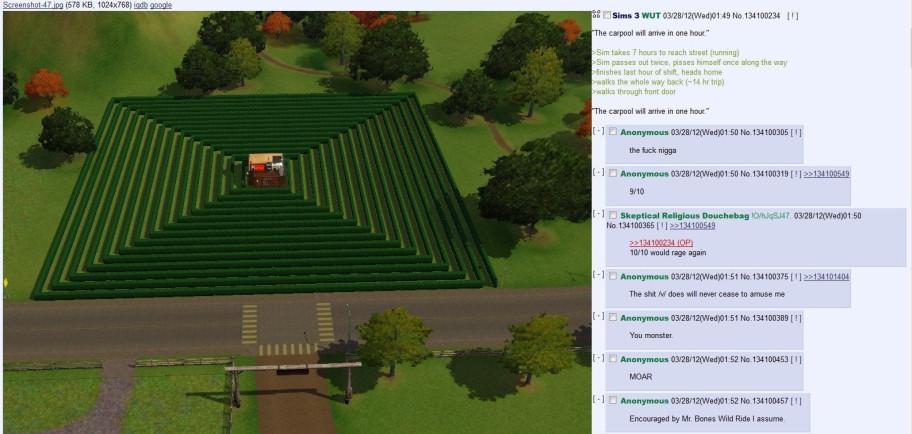 The Sims— богатое поле для издевательств иаморальных решений.