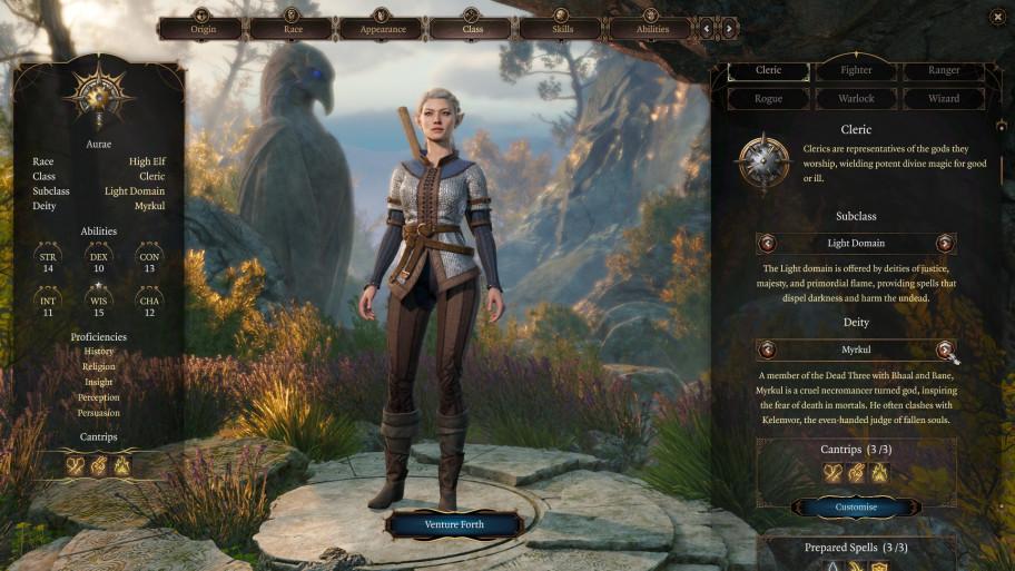 Иногда один из важных элементов присутствует только в начале игры, но это не умаляет его важности (например, выражение при создании персонажа).