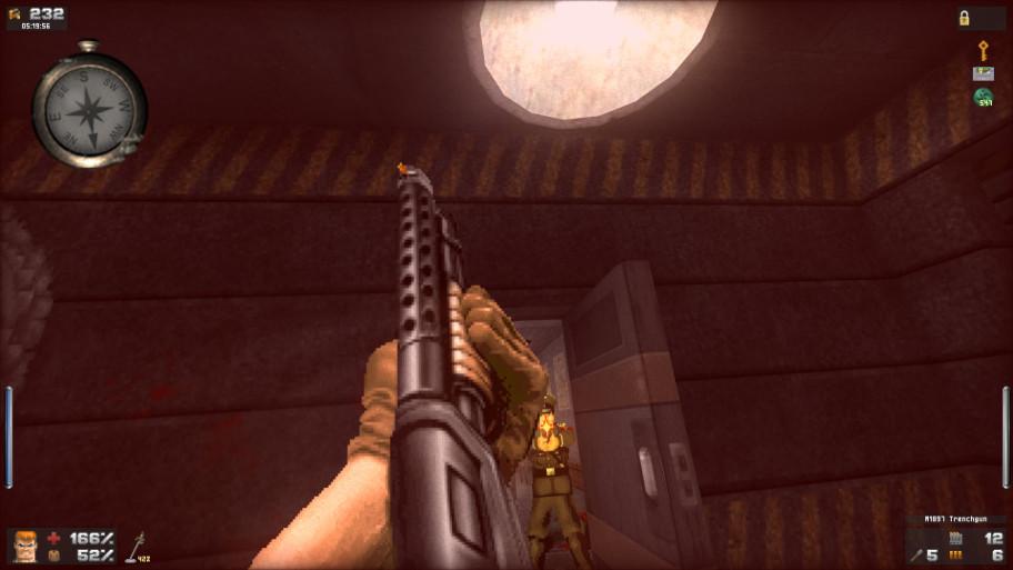 Как и в Medal of Honor с Call of Duty, после попаданий камеру просто чудовищно трясёт, что не очень хорошо сочетается с геймплеем и ловушками в духе Doom.