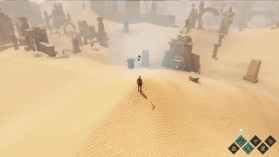 Поиски приведут даже в опасную пустыню с древними руинами.