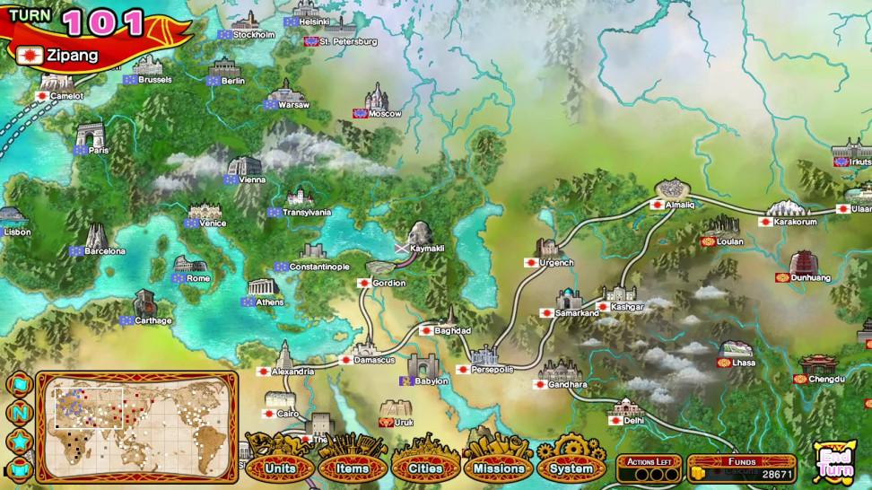 Карта охватывает практически весь мир.