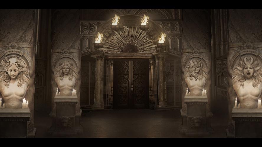 В первых концептах замок из Resident Evil Village населяла сотня голых ведьм