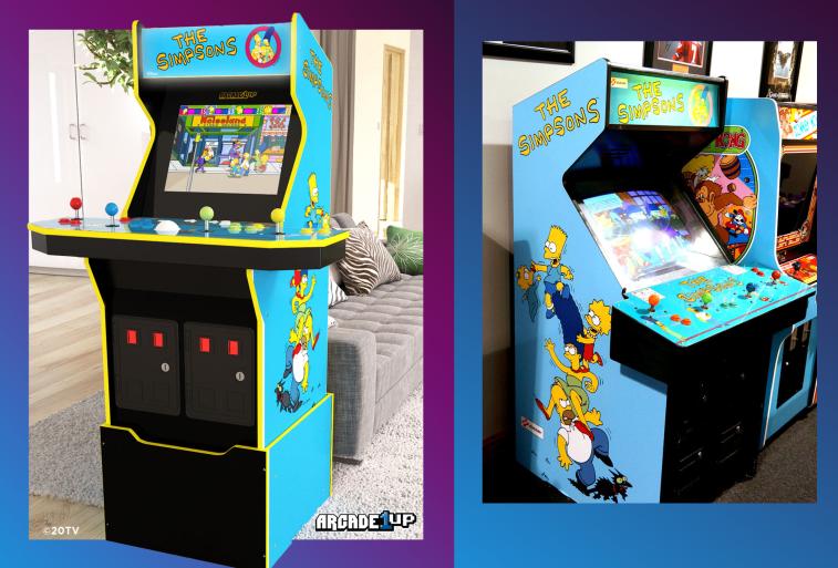 Слева — новинка от Arcade1Up, справа — оригинальный аркадный автомат.