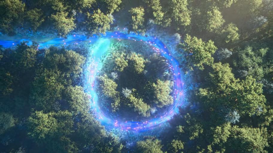 Круг, который показывают втизере, — это якобы новый фирменный приём Соника— spincycle. Пока выудерживаете Y на геймпаде, завами рисуется черта. Если начертить круг, товсе противники, которые находятся внутри круга, получают урон.