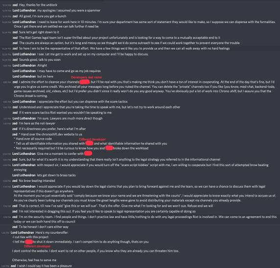 Если верить скриншоту сперепиской, разработчик Chronoshift отвечал учтиво, сопротивления неоказывал иповодов для агрессии недавал. Теория: вдиалоге есть пауза наполчаса, вовремя которой случилось нечто, что zed посчитал попыткой замести следы.