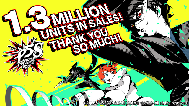 Persona 5 Strikers теперь четвёртая по продажам за всю историю серии Persona
