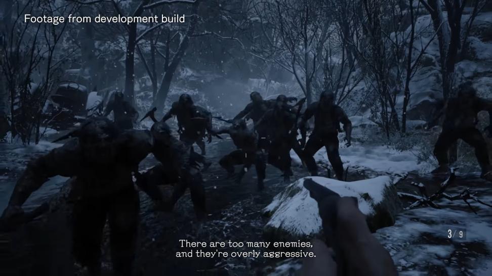 В ранней версии RE Village противники давили количеством и агрессией, но это делало геймплей неинтересным