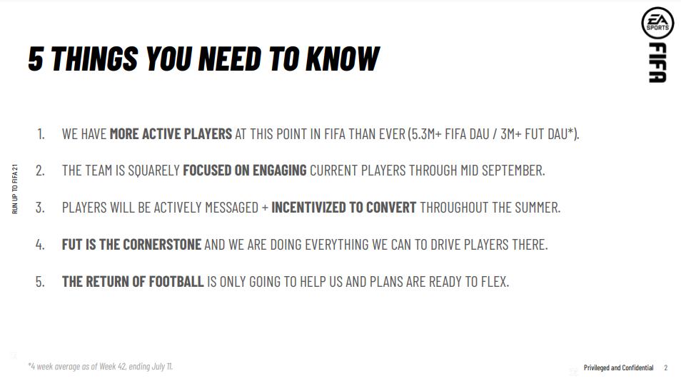 В утёкших документах FIFA Ultimate Team назвали краеугольным камнем, куда нужно сгонять всех игроков. EA заявляет, что это искажение фактов