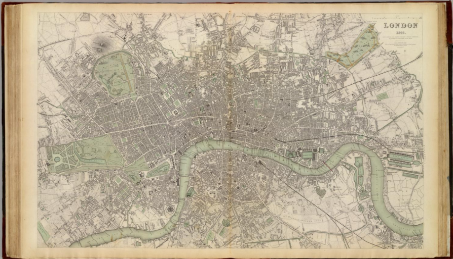 Карта Лондона 1843 года.