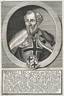 Генрих Вальпольт фон Бассенхайм. Первый Великий Магистр Тевтонского ордена.