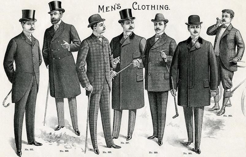 Мужская мода конца XIX века.<br>