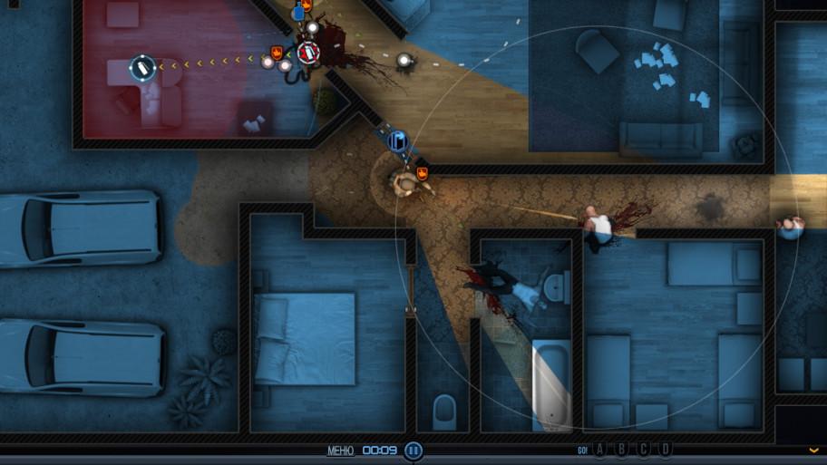 <i>Порой противников можно ловить в коридорах, т.к. они любят идти на шум. ИИ в игре в целом не шибко умён и достаточно предсказуем.</i>