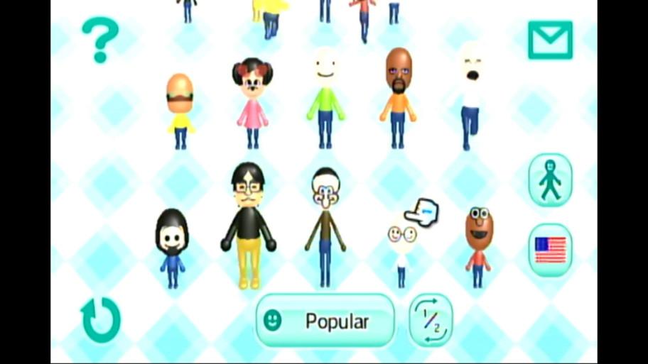 Примеры Mii-аватаров, сделанных другими людьми, изCheck Mii Out