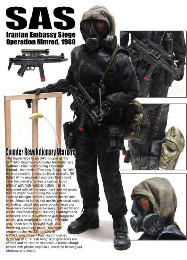 Экипировка SAS во время Операции «Нимрод»