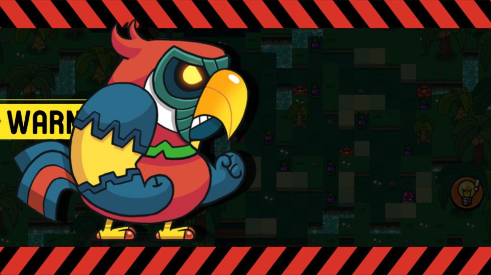Гигантский попугай.