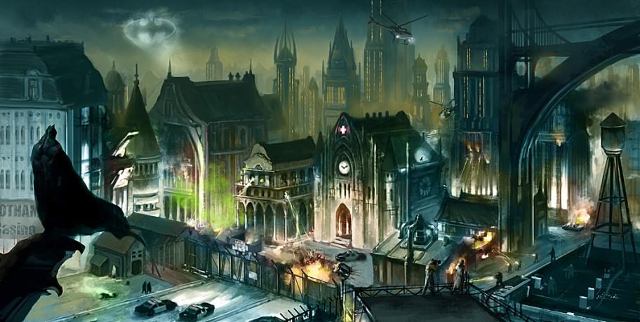 Первые наброски Arkham City