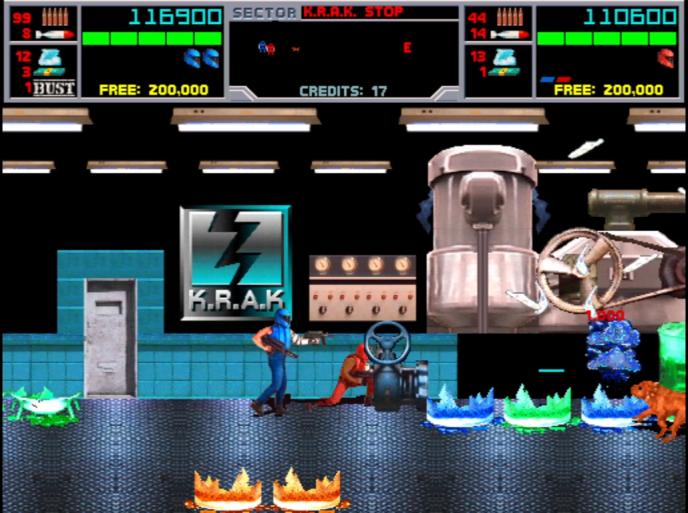 Вэтой секции, игрокам необходимо уничтожить секретную лабораторию K.R.A.K. Кто уничтожил больше склянок— тот получает больше очков.