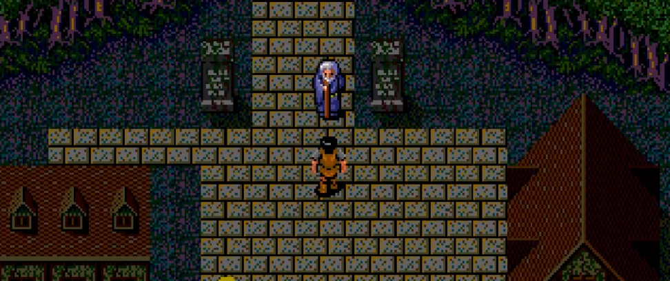 Старейшина местной деревни говорит Трайкару последнее напутствие.