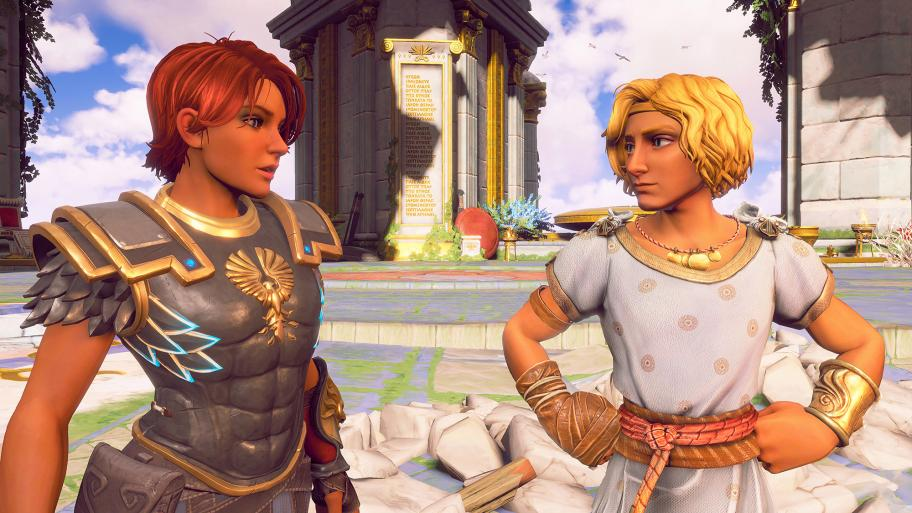 Феникс и Гермес. Лицевая анимация в игре, кстати, очень так себе.