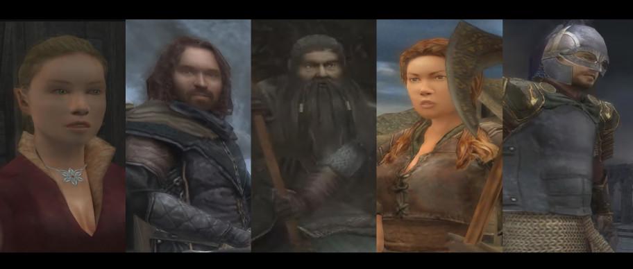 Наши спутники. Слева направо: Идриаль, Эленгост, Хадход, Морвен, Эоден. Алёгкое мыло наскриншотах— это особенность здешних игровых заставок