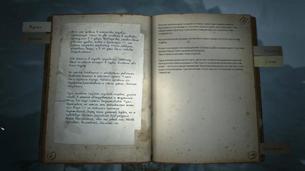 Среди дневников группы Дятлова, газетных вырезок и прочих реально существующих документов есть также и полностью выдуманные записки и отчёты с секретного объекта учёных