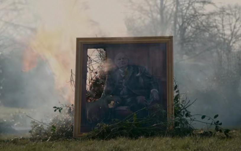 Ночтобы недай бог именно таким незапомнили, Уинстон этот портрет исжег.