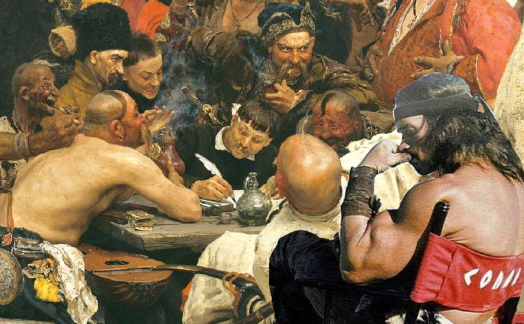 Запорожцы пишут письмо туранскому султану.