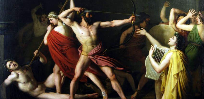 Одиссей. Кслову, Конан тоже хорошо умел стрелять изсоставного лука.