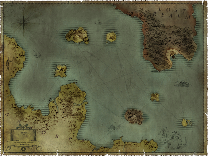 Карта места действий игры