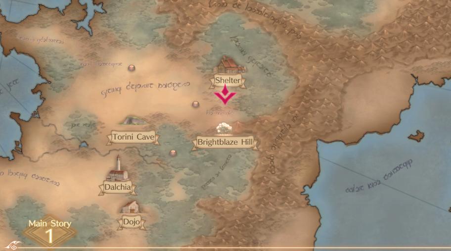 Карта мира, которая будет выскакивать всякий раз, когда берётся новая сюжетная миссия.