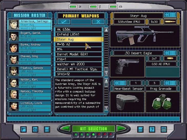 Это скрин изTom Clancy's Rainbow Six: Rogue Spear, носуть экрана выбора снаряжениявобоих играх одна