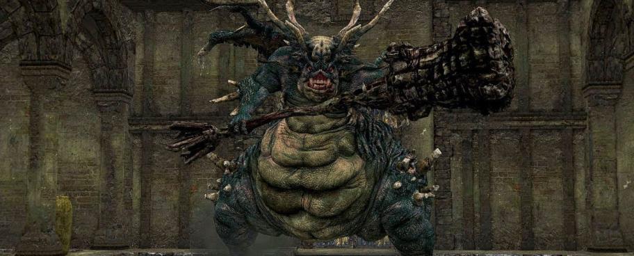 Asylum Demon, он же первый босс игры