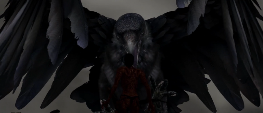 Ворон хватает игрока
