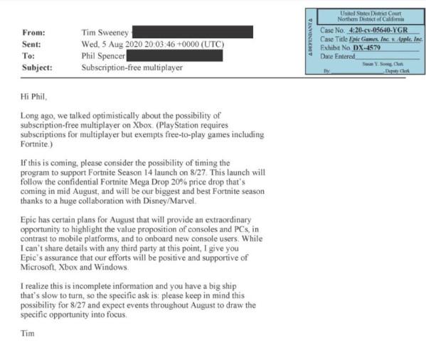 Тим Суини извинялся перед главой Ubisoft за обилие мошеннических операций с The Division 2 и подталкивал Фила Спенсера к бесплатному мультиплееру на Xbox
